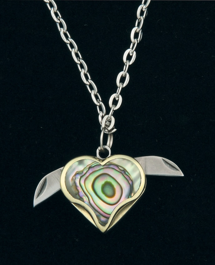 Abalone Shell Knife Necklace
