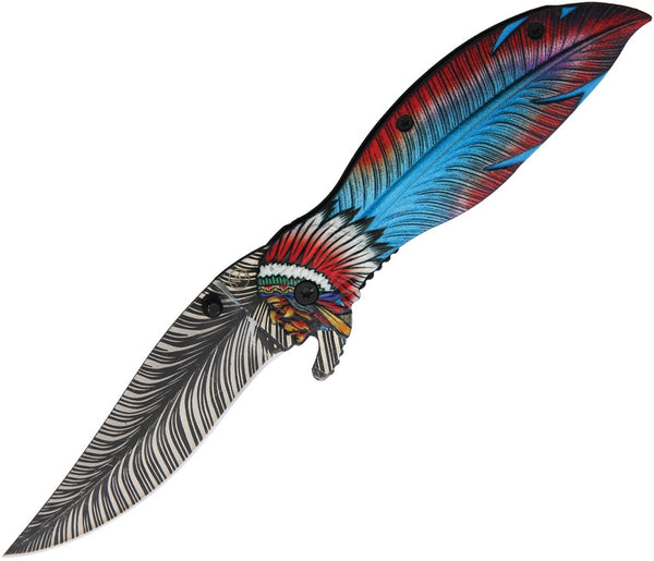 Feather Knife Indian Chief Nv326