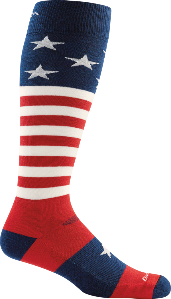 MEN'S CAPTAIN STRIPE OVER-THE-CALF CUSHION SOCKS