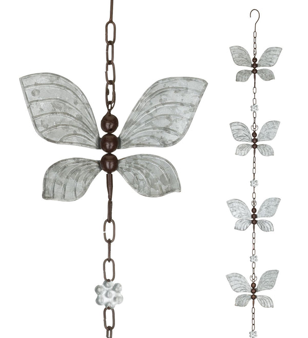 Butterfly Spinner Rain Chain