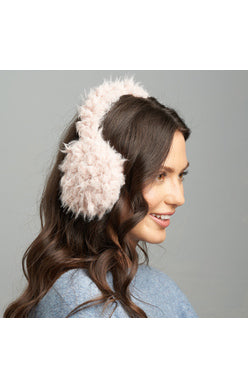 Women's Shaggy Bunny Ear Muffs