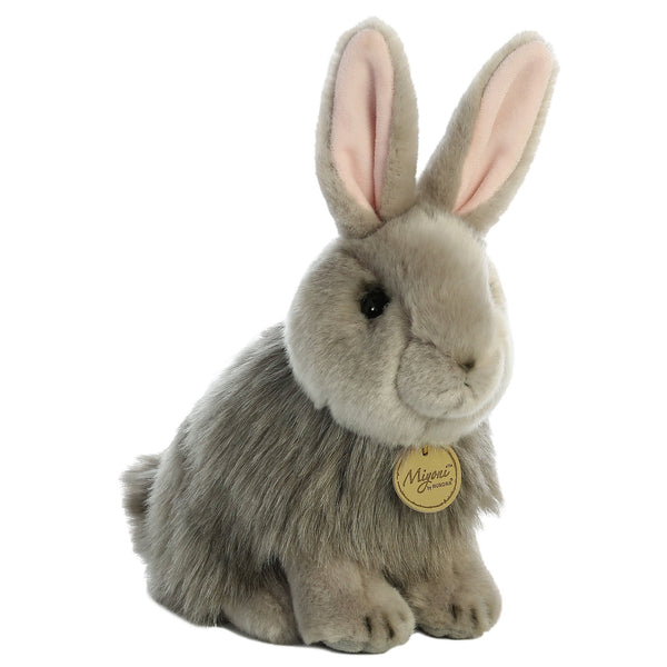 Angora Rabbit Grey 10""