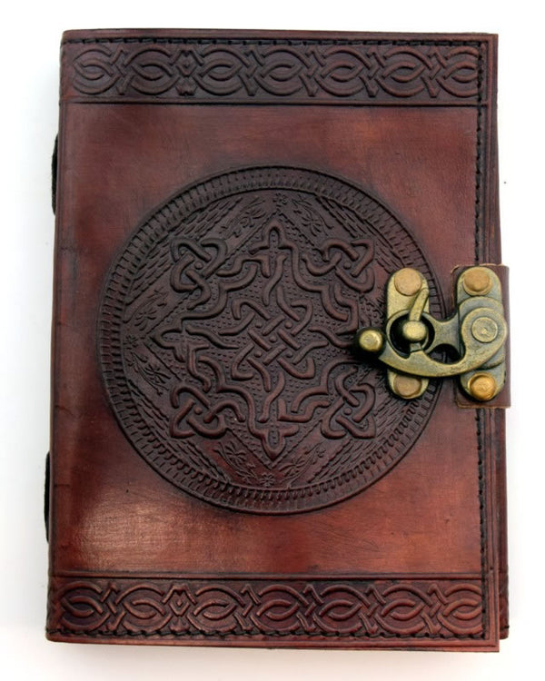 Celtic Knot Circle Leather Journal