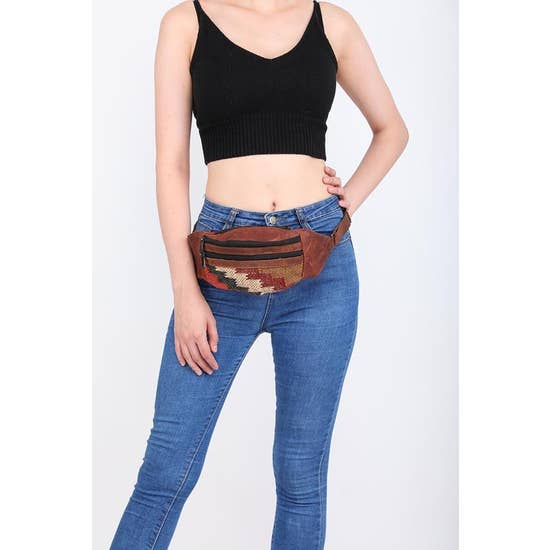 Jute & Leather Hip Pack