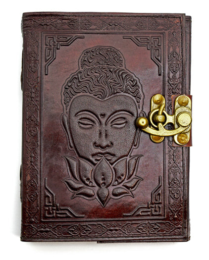Buddha Lotus Leather Journal