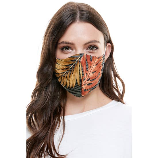 Fashion Reversible Reusable Face Mask Multi Tropical