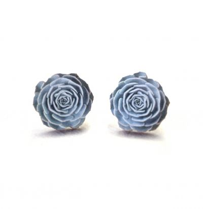 Echeveria Stud Wooden Earrings