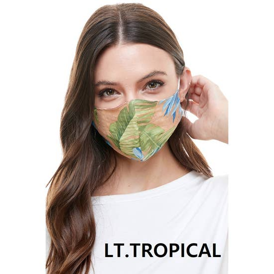 Fashion Reversible Reusable Mask Lt Tropical