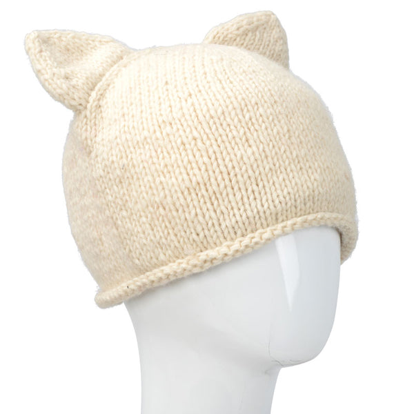 Knit Hat With Cat Ears Path of the Spirit
