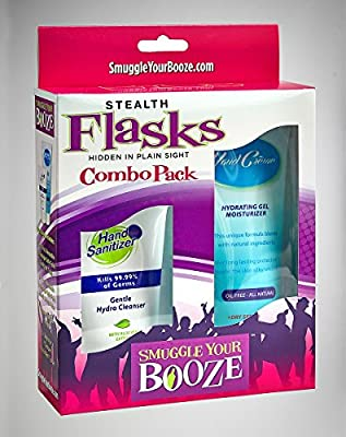 Hand Creme/Hand Sanitizer Flask Combo Pack