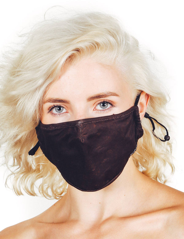 Fabric Face Covering Mask- Brown Acid