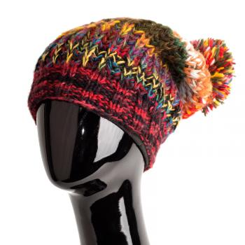 Colorful Knit Hat With Pom Path of the Spirit