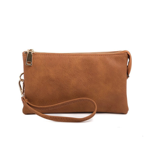 Vegan Leather Wristlet or Crossbody Bag