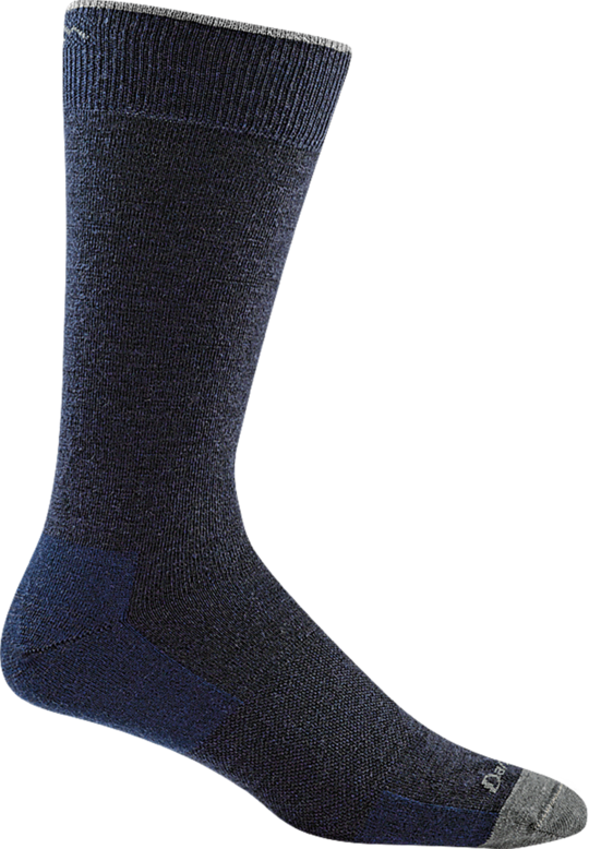 MEN'S SOLID CREW LIGHTWEIGHT NAVY SOCKS