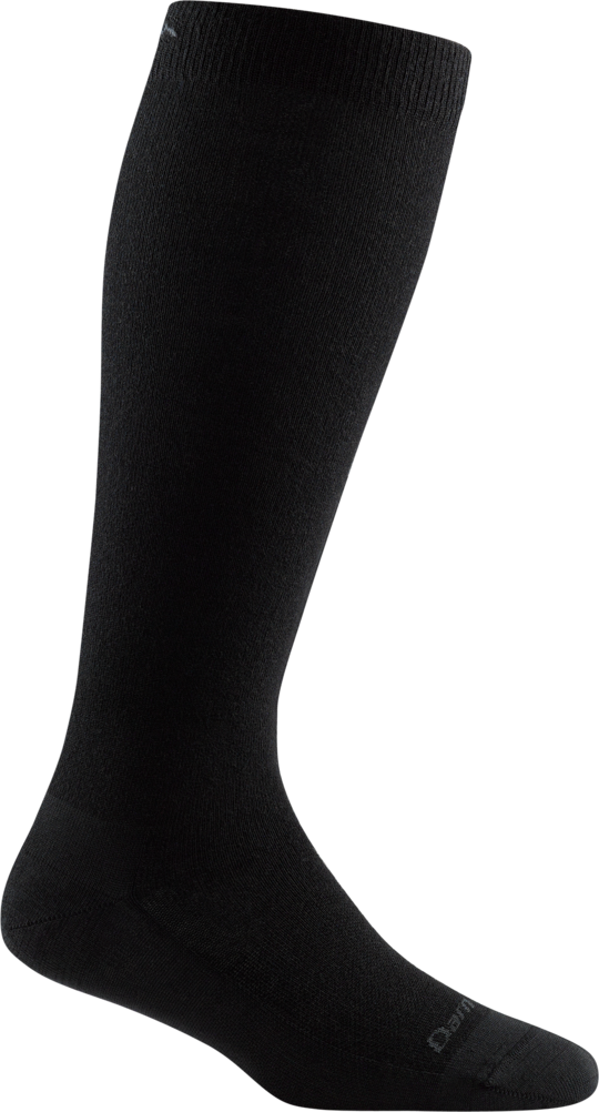 WOMEN'S SOLID BASIC KNEE HIGH LIGHTWEIGHT BLACK SOCKS
