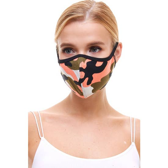 Fashion Mask Camo Coral