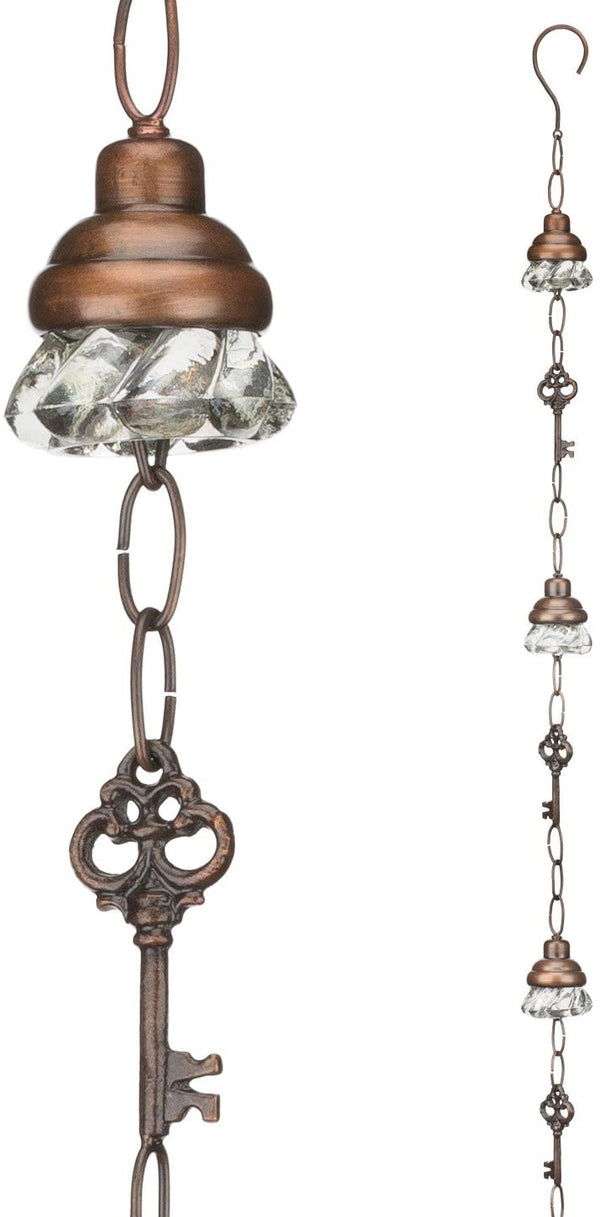 Door Knob & Key Rain Chain