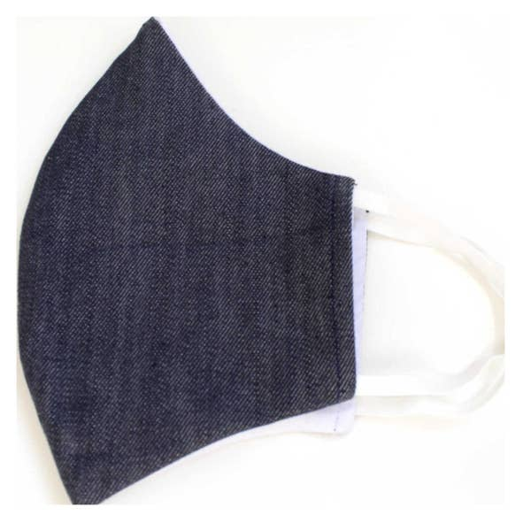 Indigo- Chambray Face Mask With Filters
