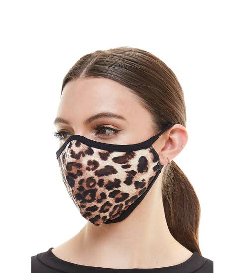 Animal leopard fashion face mask cloth reusable mask