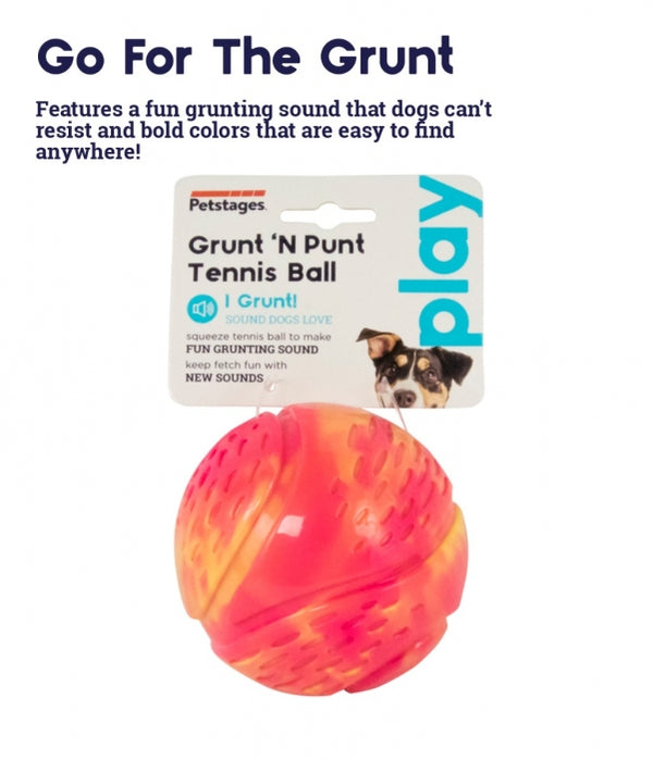 Grunt 'N Punt Tennis Ball-Yellow/Pink