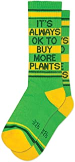 It's Always OK To Buy More Plants Ribbed Gym Socks
