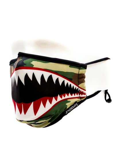Fabric Face Covering Mask- Flying Tiger Camo