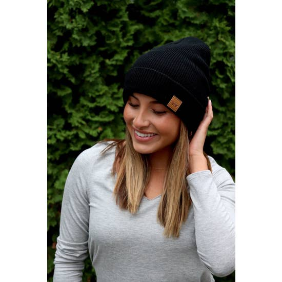 Black Fleece-Lined Beanie