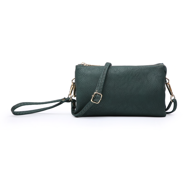 Jen & Co. Vegan Leather Wristlet or Crossbody Bag