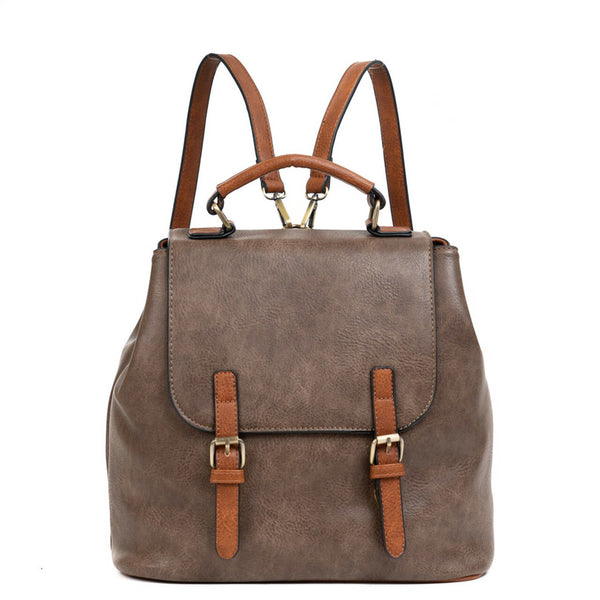 Vegan Leather Convertible Backpack