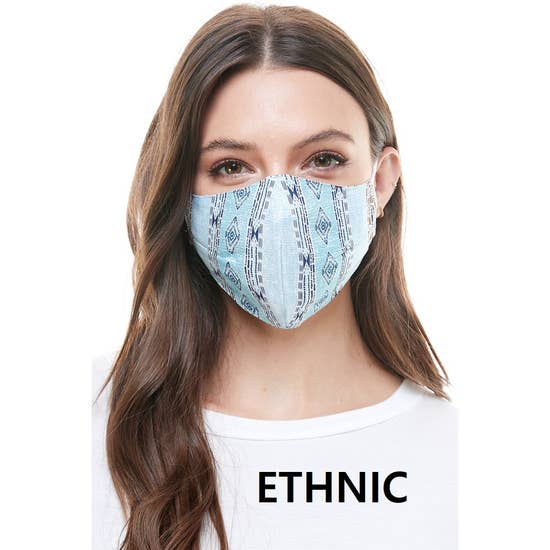 Fashion Mask Reusable Ethnic Pattern