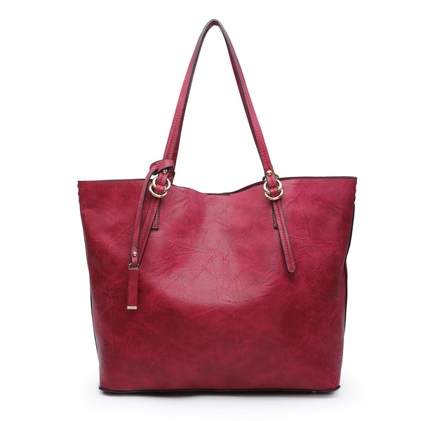 Vegan Leather 2 in 1 Tote Bag