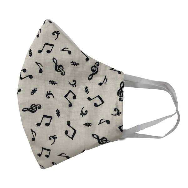 Music Notes Face Mask With Filters