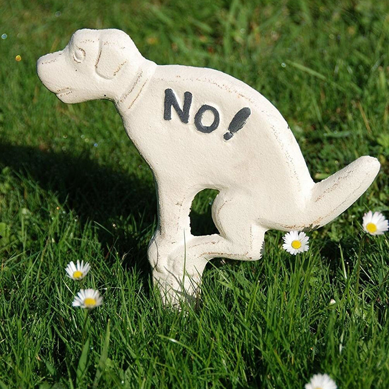 NO! Sorry Pooch,Not In This Yard! Cast Iron Yard Sign