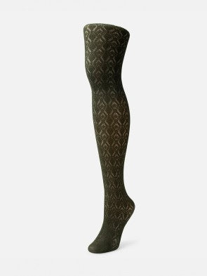 Codori Crochet Tights in Olive