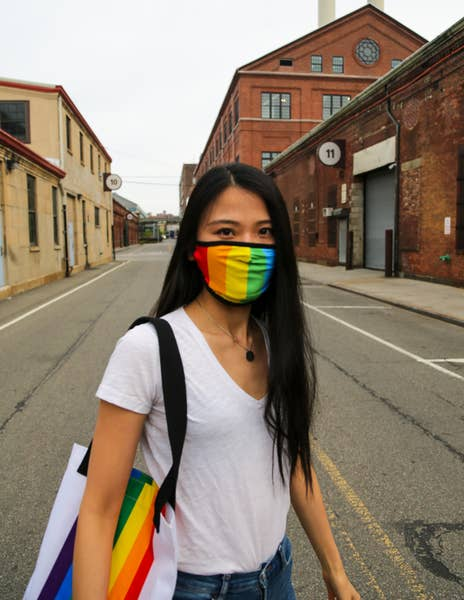 Fabric Face Covering Mask- PRIDE Rainbow