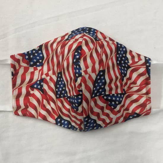 American Flags Face Mask With Filters