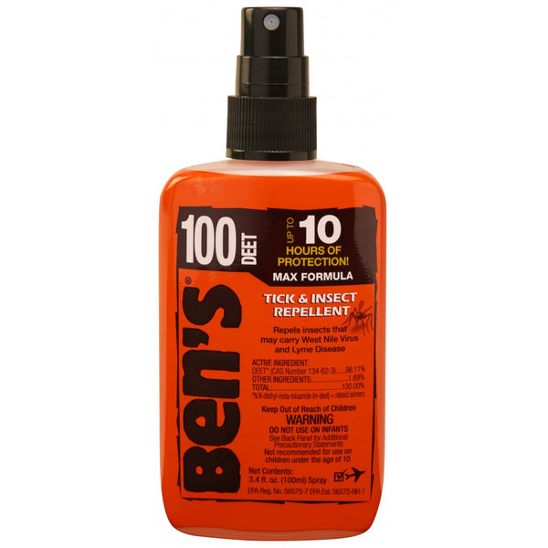 Ben's DEET-100 Tick & Insect Repellent Spray