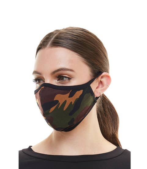 Camouflage face mask fashion cloth reusable fabric