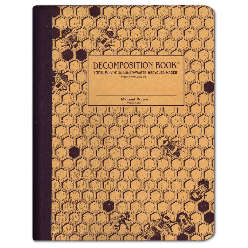 Decomposition Book Honey Comb Large College Ruled 100% Recycled Notebook