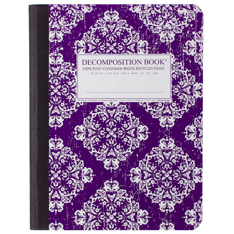 Decomposition Book Victoria Purple Large College Ruled 100% Recycled Notebook