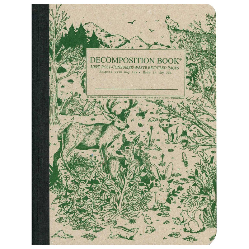 Decomposition Book Spirit Animal Large College Ruled 100% Recycled Notebook