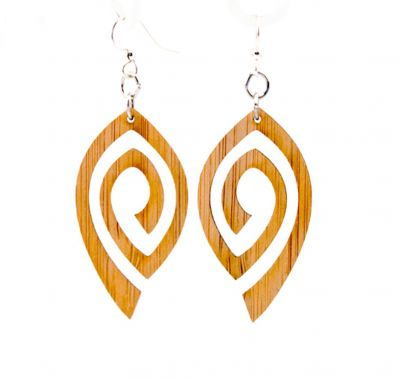 Spiral Eye Bamboo Earring