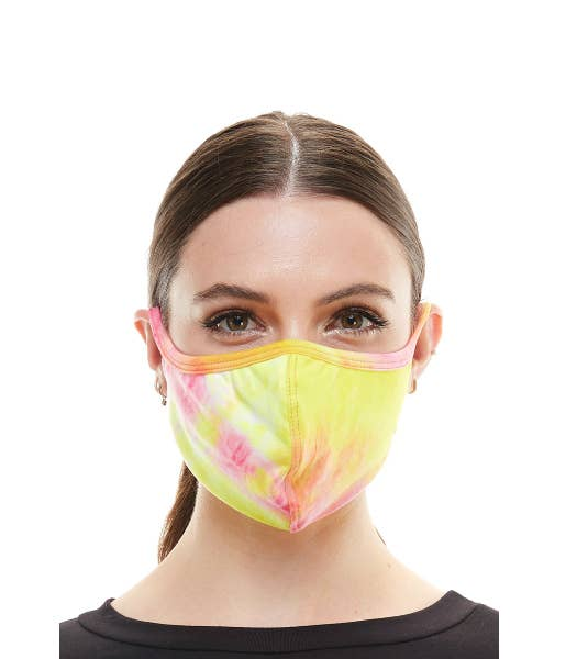 Tie Dye Fabric Face Mask Stretchable Cloth Reusable