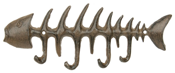 Fish Bone Key Rack - Rust