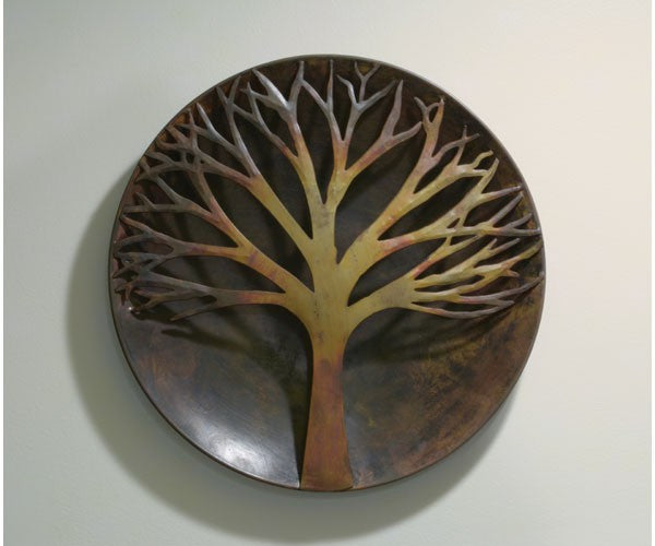 Raised Tree Flamed Wall Disc