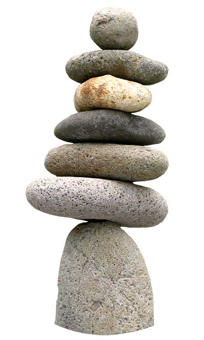Natural Riverstone Cairn 7-Stone