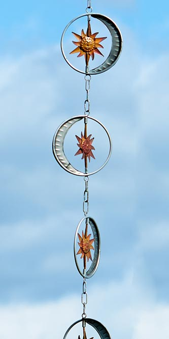 Sun & Moon Flamed Rain Chain