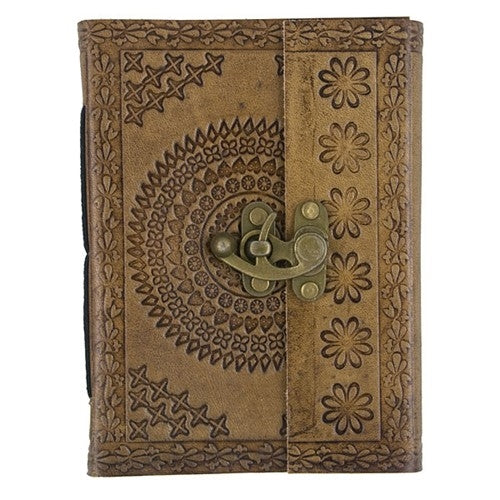 LEATHER EMBOSSED OLD WORLD JOURNAL