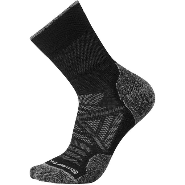 Men's Charcoal PhD Outdoor Light Hiking Crew Socks