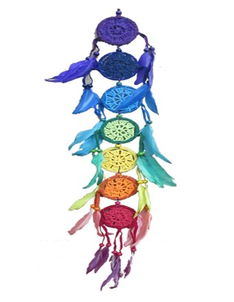 Magic Touch Corp Crochet Chakra Dream Catcher